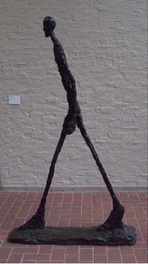 Walkin men, Giacometti
